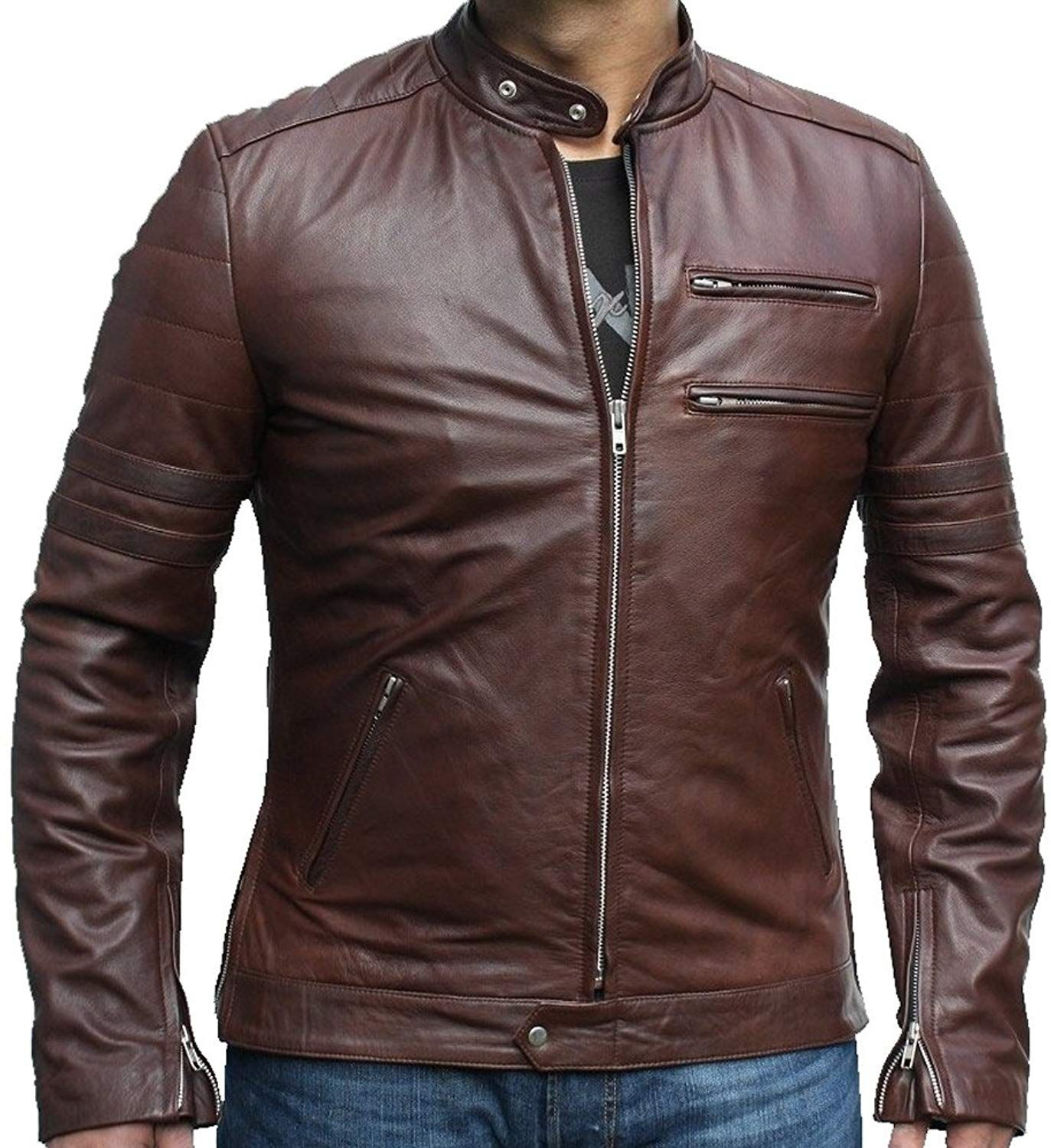 Classyak Fashion Genuine Leather Jacket Brown, Supreme