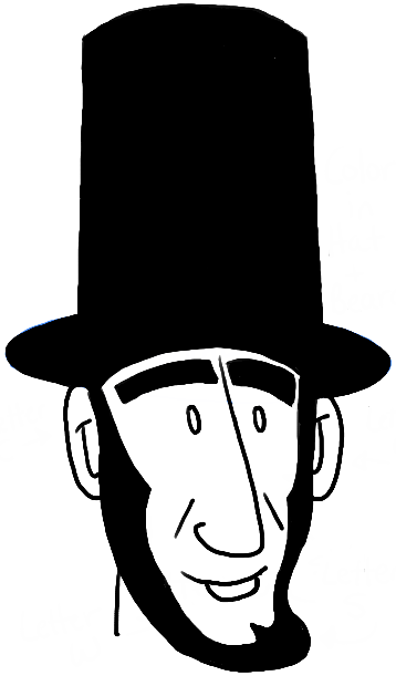 How To Draw Cartoon Abe Lincoln With Easy Steps Tutorial Lincoln