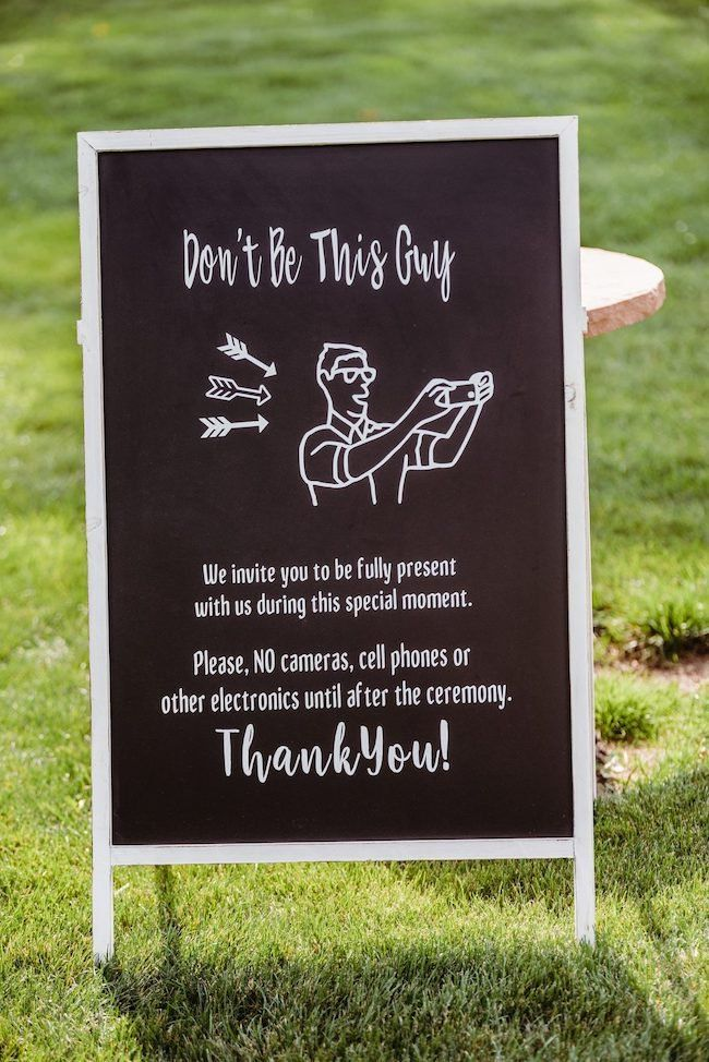 19 of the Funniest Wedding Signs We've Ever Seen | Here Comes The Guide #weddings