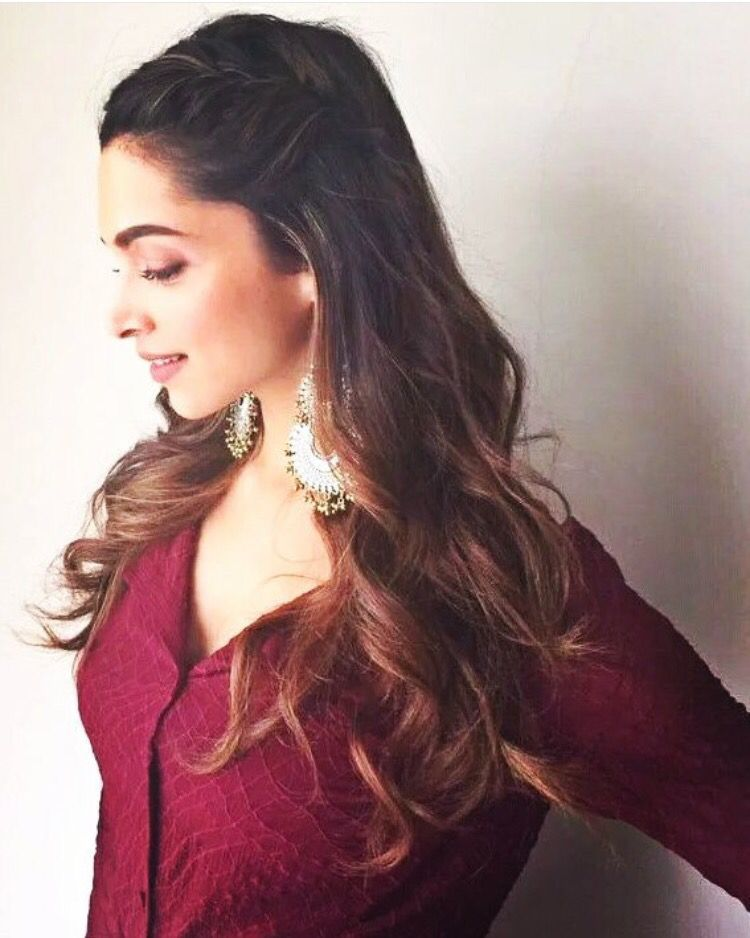 Braided Hairstyle Celebrity Hair Hair Styles Deepika Padukone Hair