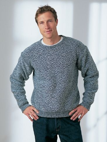 Free Pattern Basic Easy Knit Sweater Sure To Please Any Man Knit