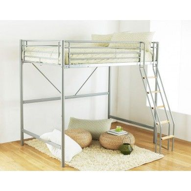 Hyder Single Loft Bed Is A Very Metal Framed Loft Bed With Wooden
