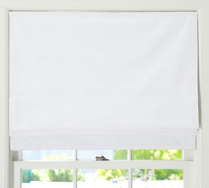 Cameron Cotton Cordless Roman Shade Pottery Barn 36x64 This Should Sit On The Casing Per Dimensions F In 2020 Cordless Roman Shades Roman Shades Custom Roller Shades