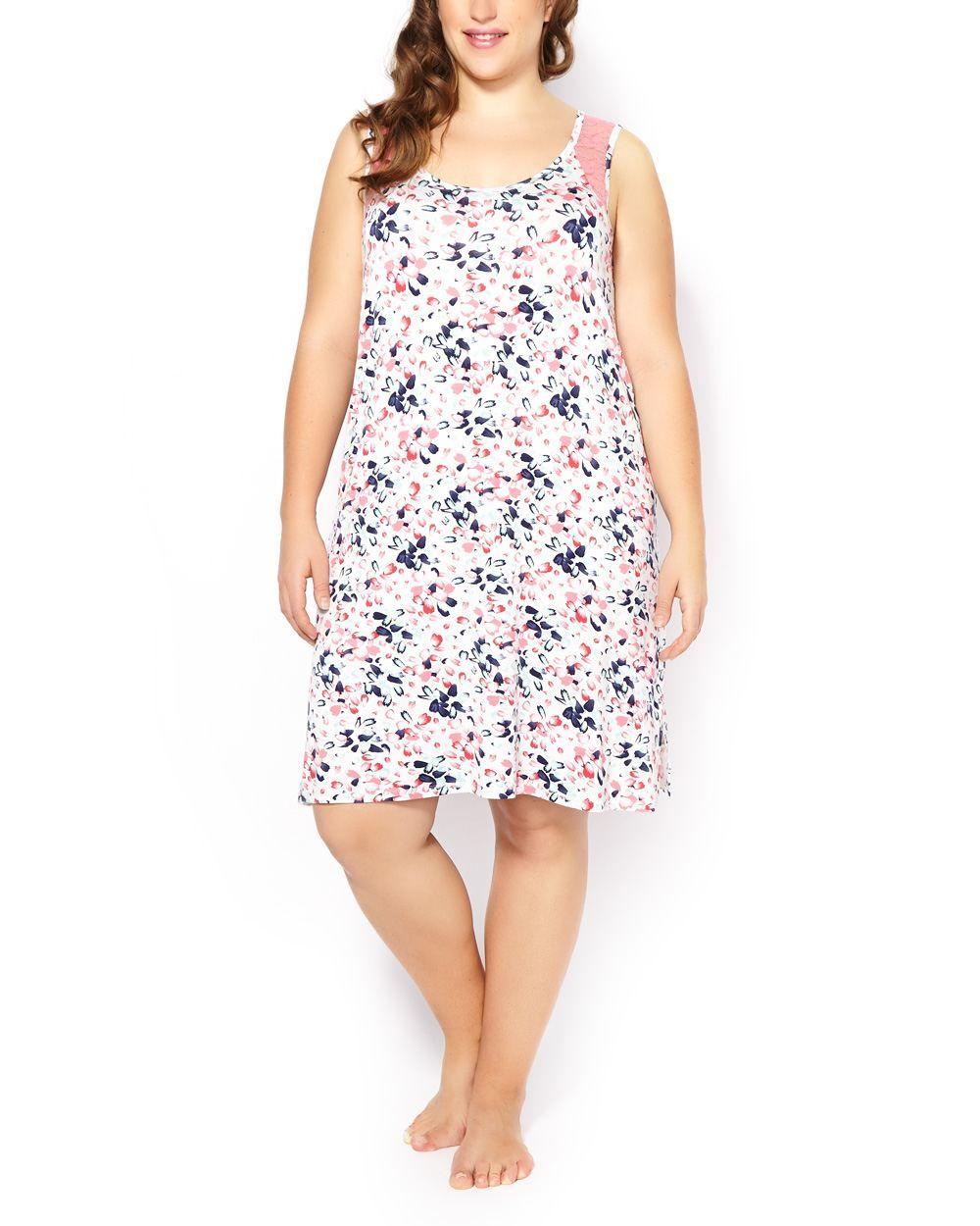 a8bc5061b4cf0 Shop online for Ti Voglio Sleeveless Sleepshirt with Lace. Find Sleepwear