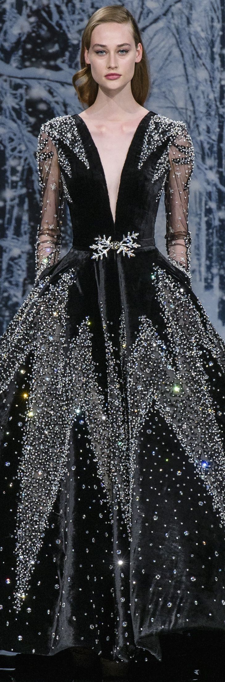 Ziad nakad haute couture fall noir glamour pinterest