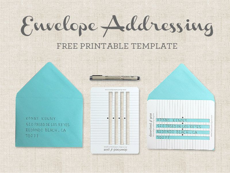 Handwritten Envelopes Addressing Template Download Print - Wedding invitation envelope address template