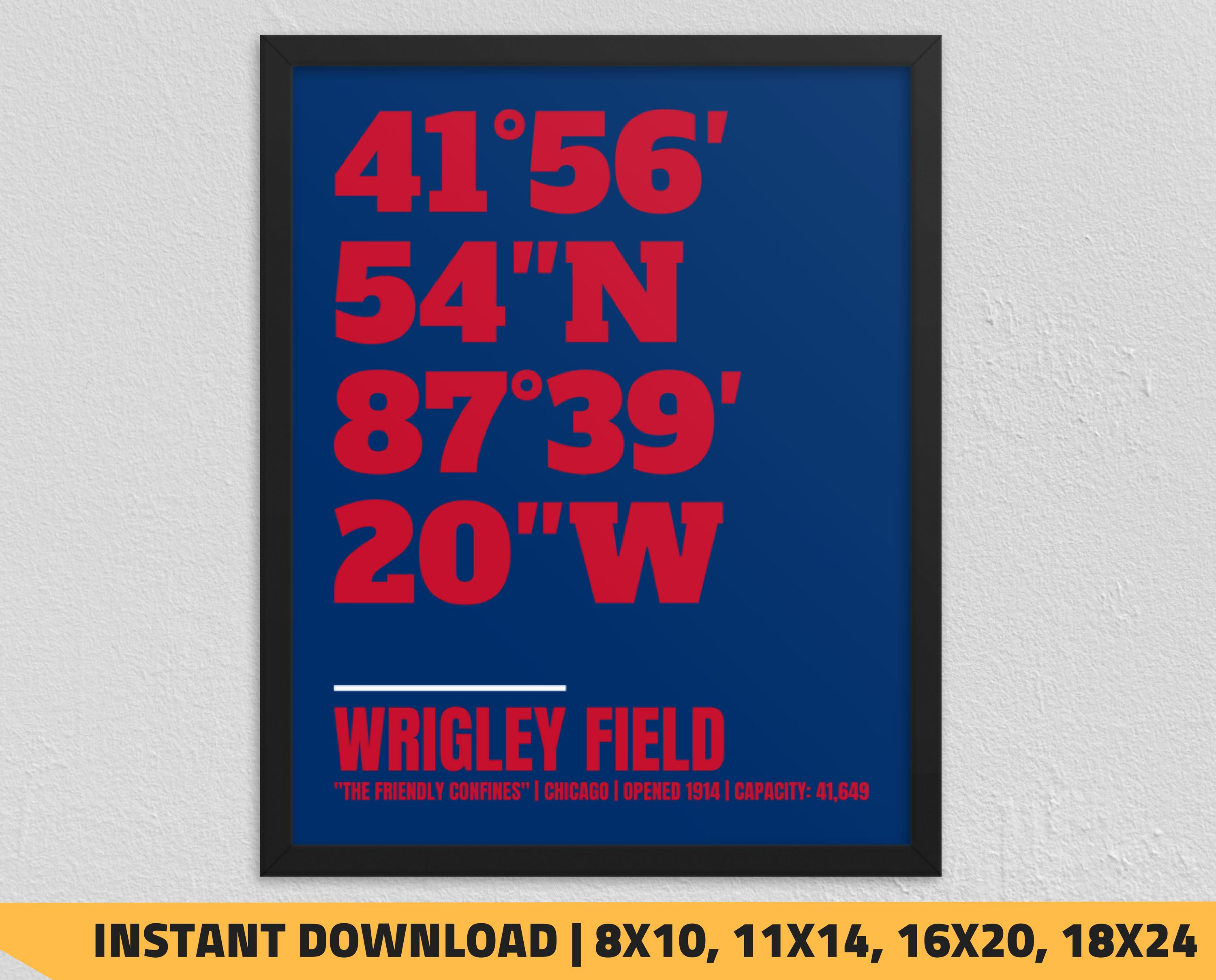 Printable Chicago Cubs