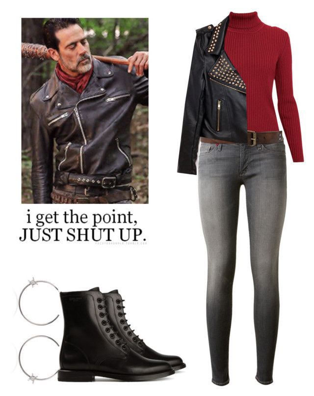 Negan - twd / the walking dead by shadyannon on Polyvore featuring polyvore fashion style Rumour London Hudson Dsquared2 Yves Saint Laurent clothing