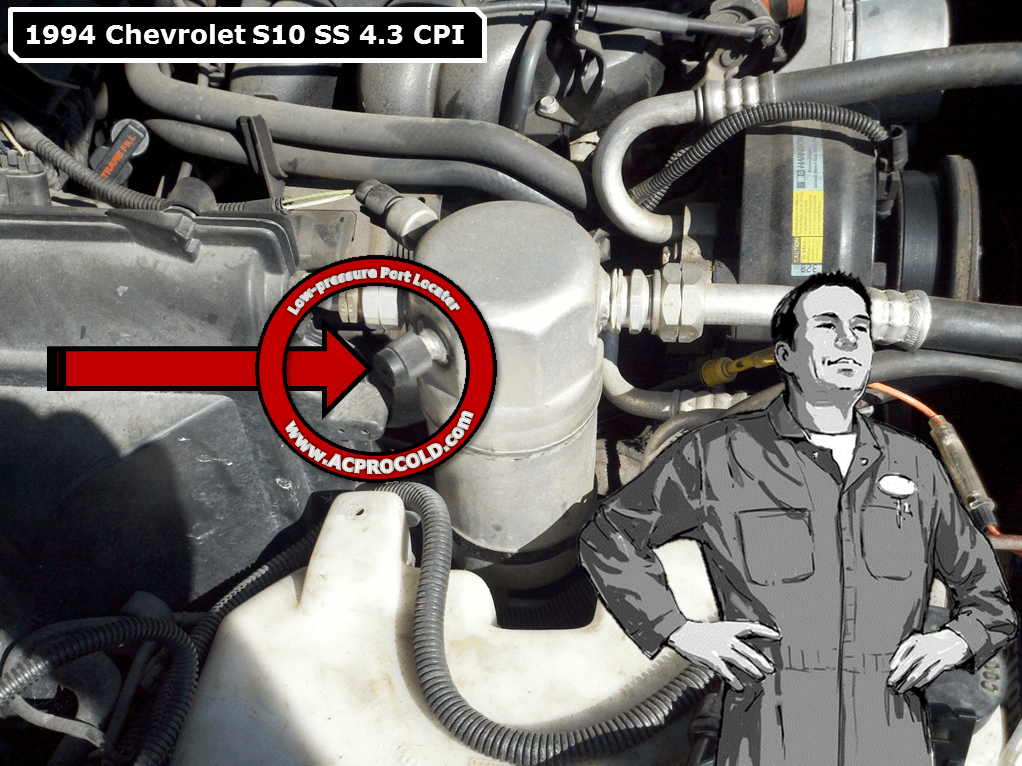 1994 Chevrolet S10 Low Side Port For A C Recharge