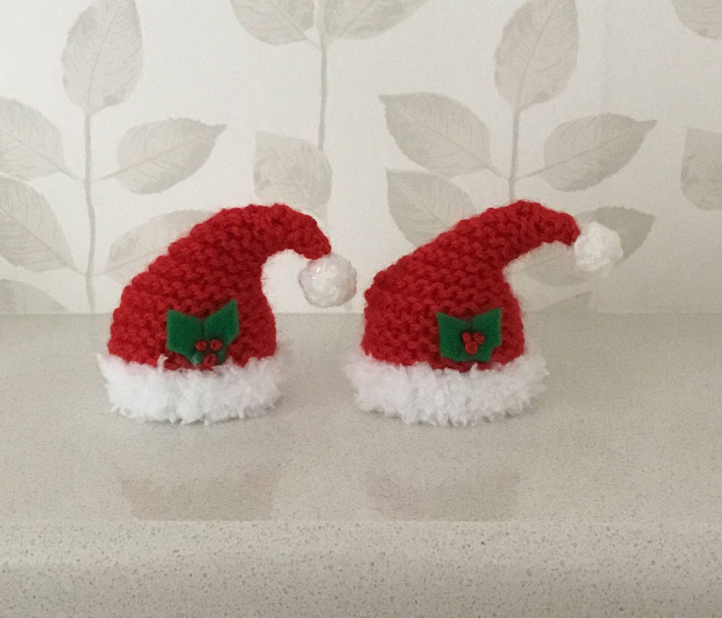 Excited to share the latest addition to my  etsy shop  Hand knitted Santa  hat covers for ferrero rocher chocolate x 2 248747469de
