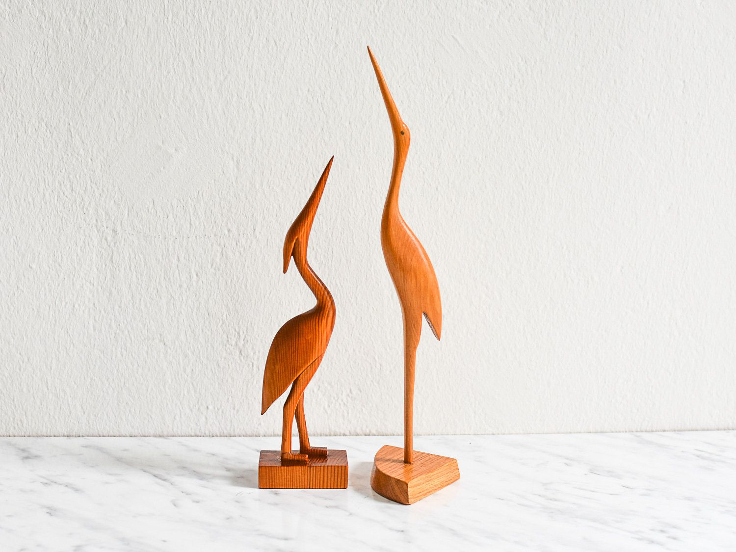 Holz Figuren Crane Figurines Bird Figurines Vintage Cranes Wooden Cranes