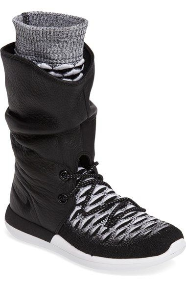 NIKE Roshe Two Flyknit Water Repellent Sneaker Boot (Women).  nike  shoes   boots dce9ed502fb2