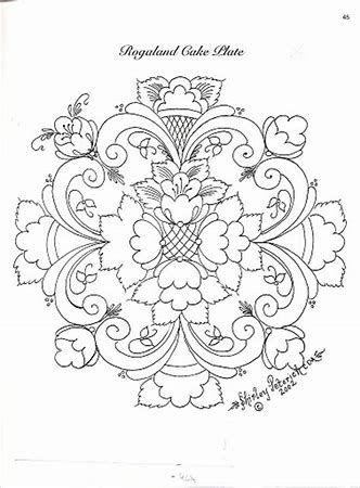 Resultado de imagem para Rosemaling Patterns to Trace