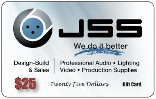 J Sound Services $25 Gift Cards.