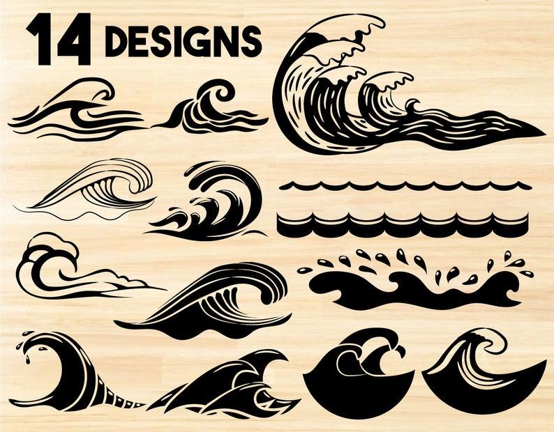 Wave Bundle Svg Wave Svg Waves Svg Wave Clipart Ocean Svg Ocean Waves Svg Wave Vector Sea Waves Svg Wave Png In 2021 Wave Clipart Waves Vector Waves Bundle