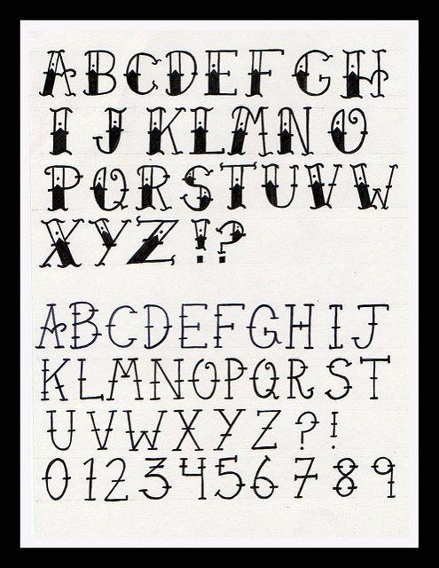 typographie alphabet lilo dessin lettres tatouage. Black Bedroom Furniture Sets. Home Design Ideas