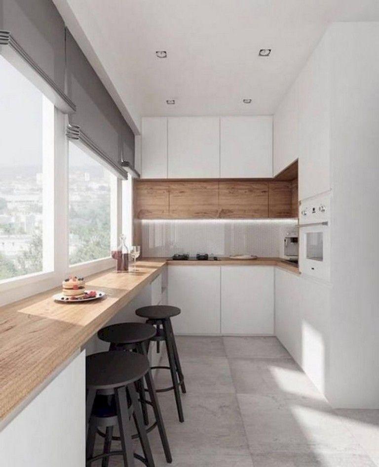 46+ Stunning Minimalist Kitchen Design Ideas #kitchendesignideas