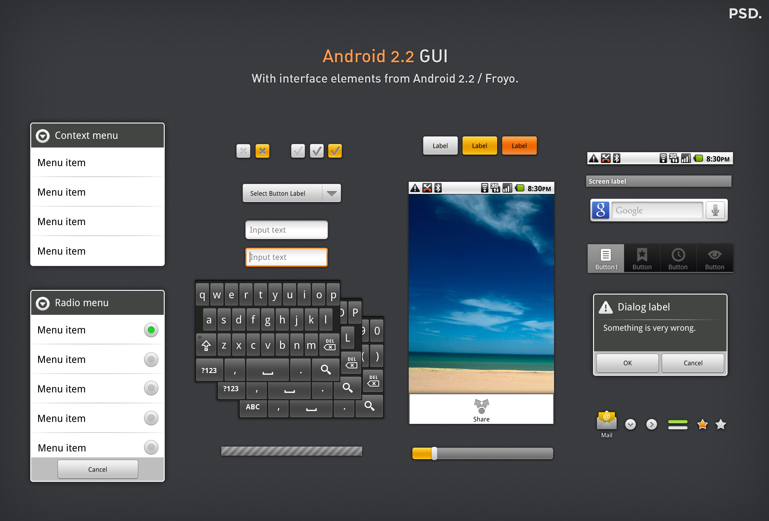 Android 2.2 GUI by ~thiago-silva on deviantART