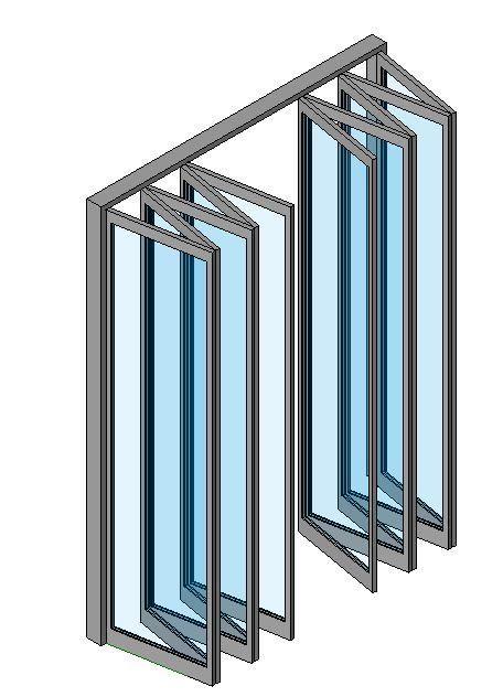 Object Curtain Wall Folding Doors Perabot Rumah Rumah Perabot