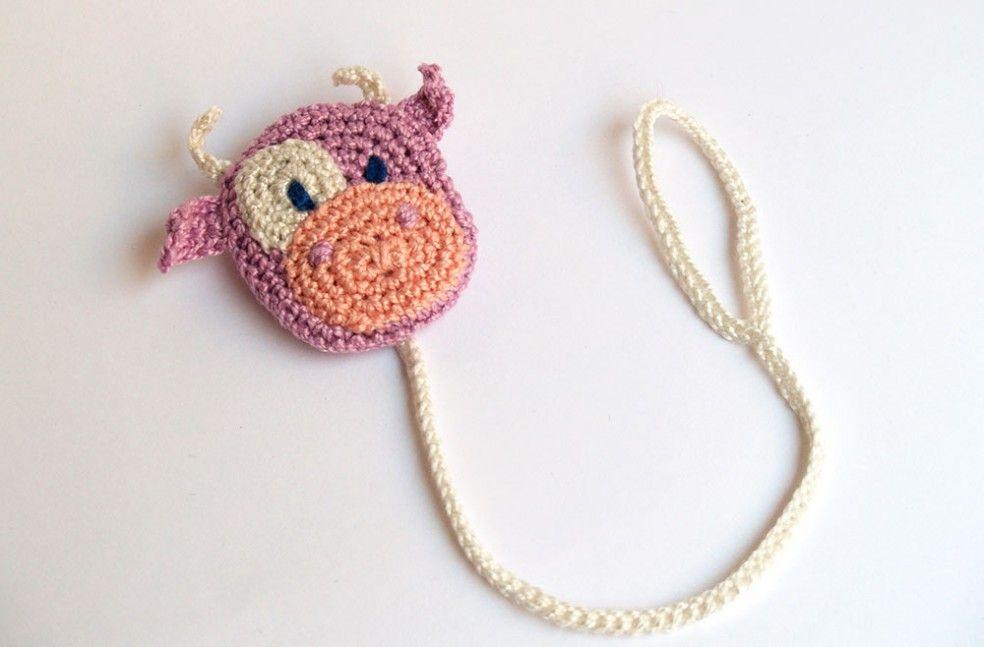 Chupetero amigurumi de vaca. Crochet cow pacifier clip | lola ...