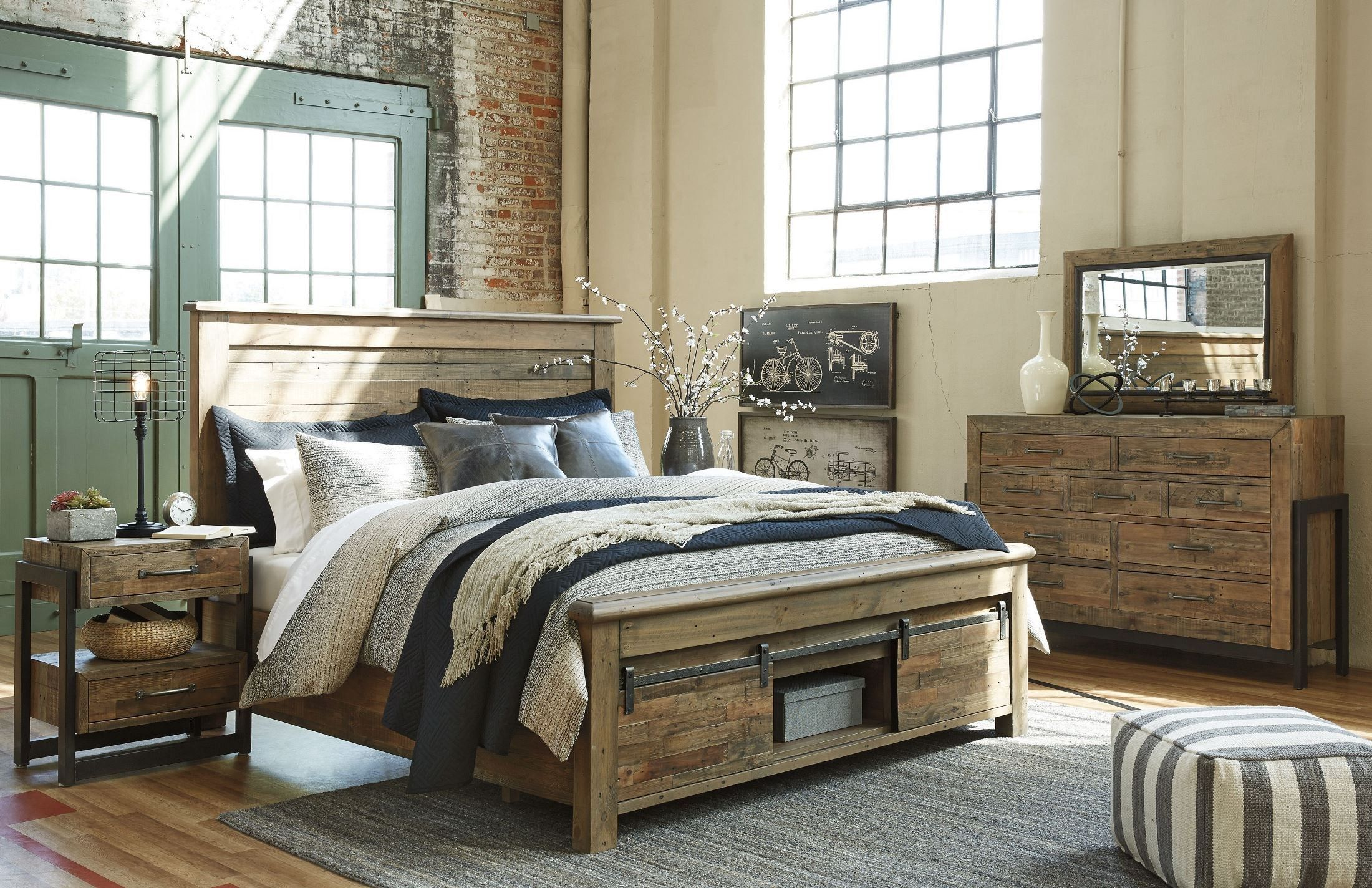 Sommerford Brown Storage Panel Bedroom Set Bedroom Furniture