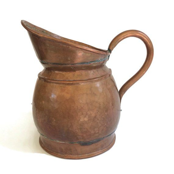 Antique French Copper Pitcher 19th Century Jug