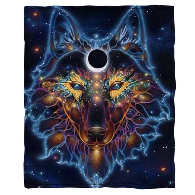 Photo of Oversized Fleece Blanket – Wolf