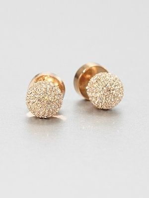 3a32e0685 Michael Kors - Pavé Ball Stud Earrings/Rose Goldtone. OMG DEAD ...