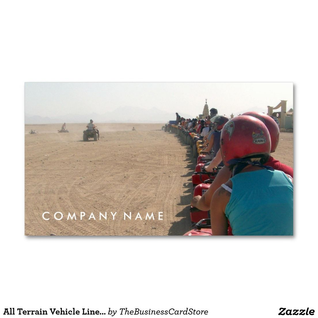 All Terrain Vehicle Line Up (ATV) Standard Business Card