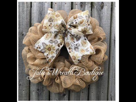Photo of Easy DIY Mesh Wreath / Facebook Live Replay