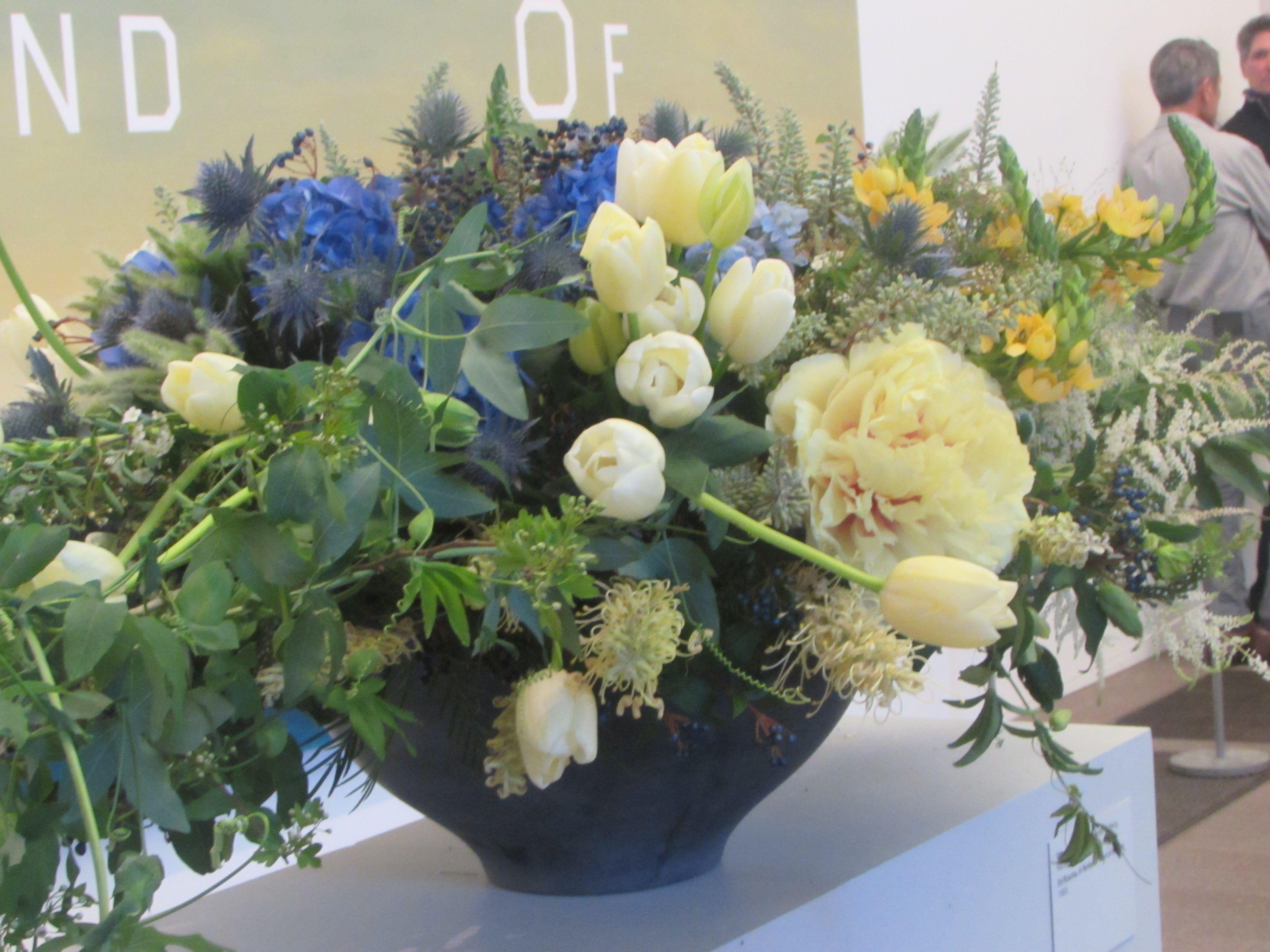 El arte y las flores una combinación perfecta. San Francisco, Ca. De ...