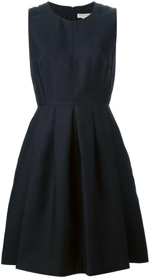 Burberry London sleeveless pleated dress