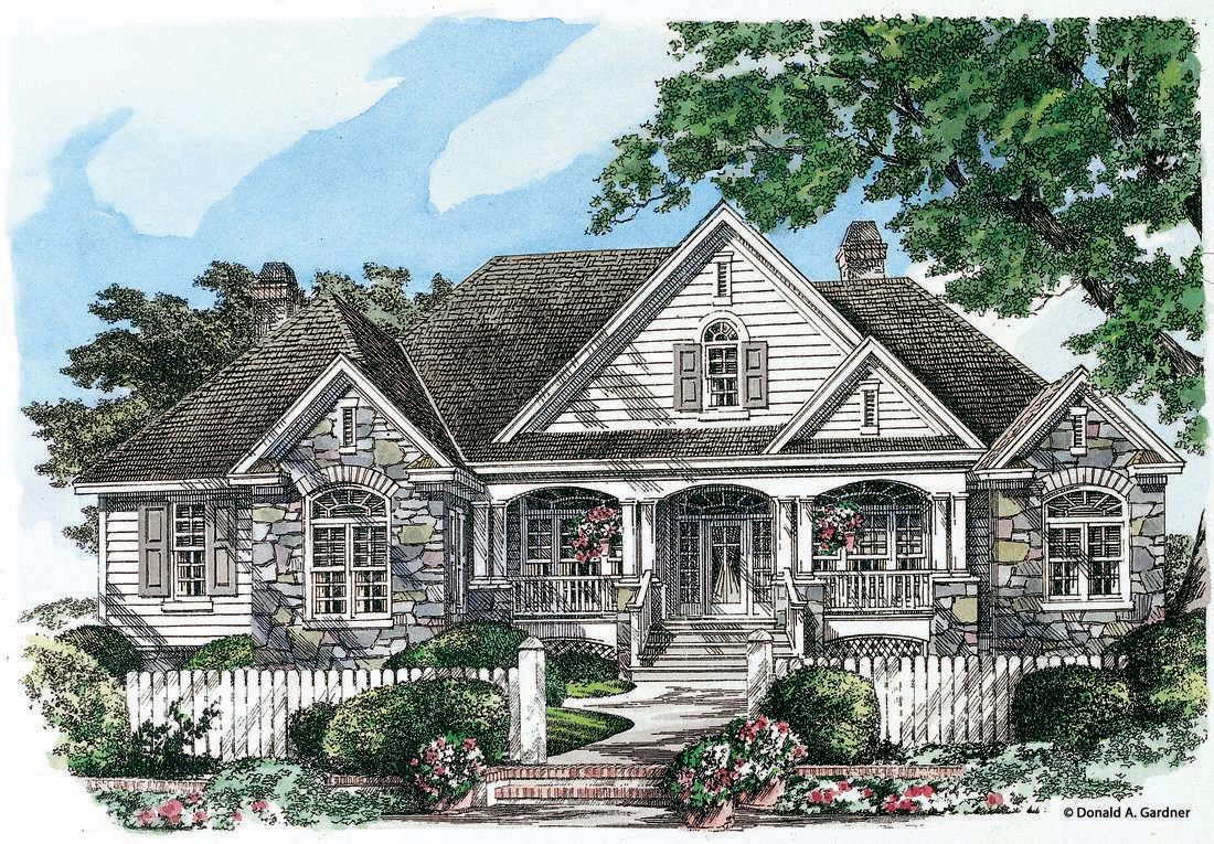 The Flagler House Plan By Donald A Gardner Architects Craftsman House Plans Country Style House Plans Traditional House Plans