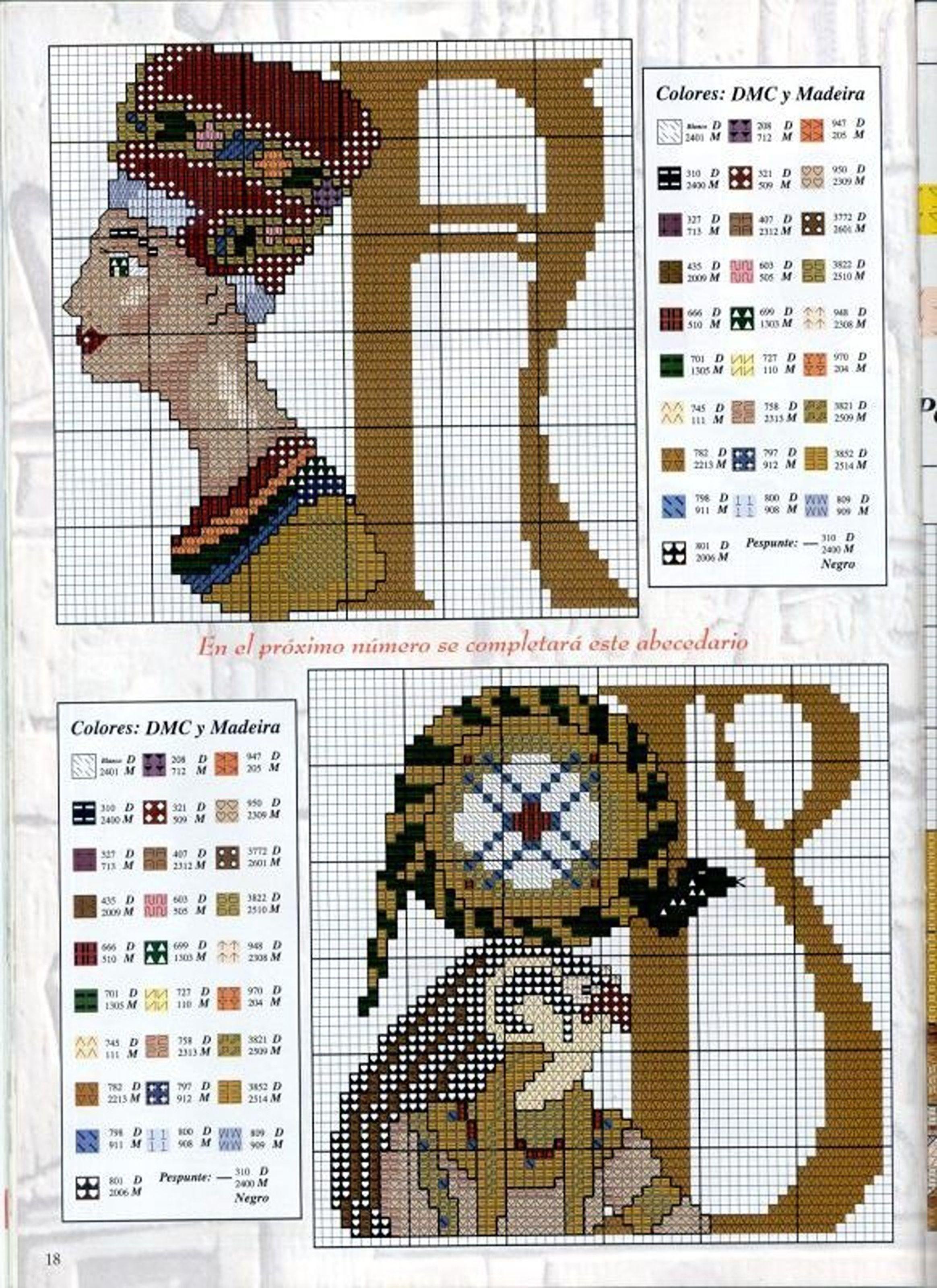O antigo Egito   crochet letter   Pinterest   Cross stitch, Stitch ...