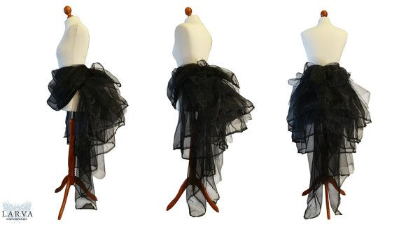 Black Bustle by LarvaFashion on Etsy, €199.00