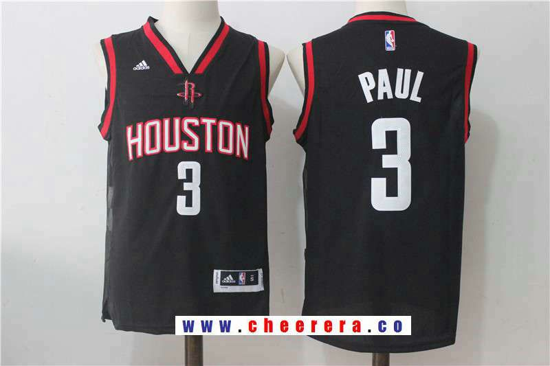 ad72003b8 Men s Houston Rockets  3 Chris Paul Black Stitched NBA Adidas Revolution 30 Swingman  Jersey