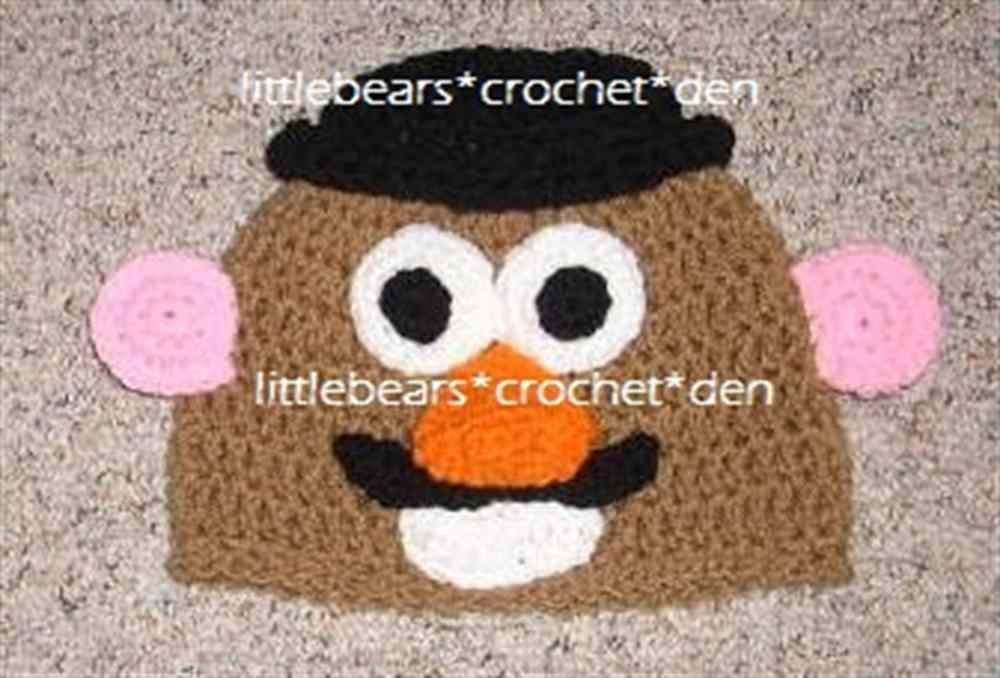 a882826ce6783 DISNEY TOY STORY CUSTOM Crocheted Boutique MR. POTATOE HEAD Beanie ...