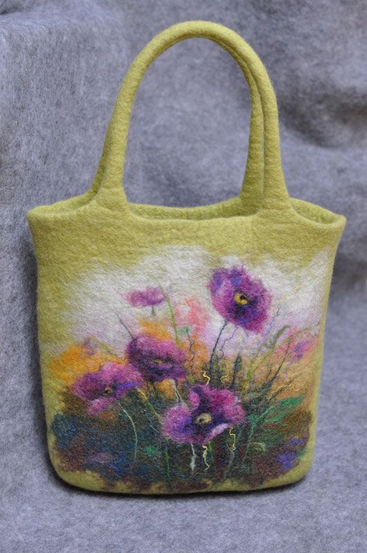 e80310de1f34 felted bag--Wow! I'm sure there is no way I could ever do this, but I love  it, and maybe someday I will be so talented. Wow!