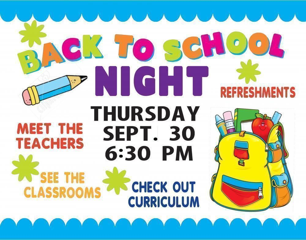 Classroom Poster Ideas : Make a school event poster back to night