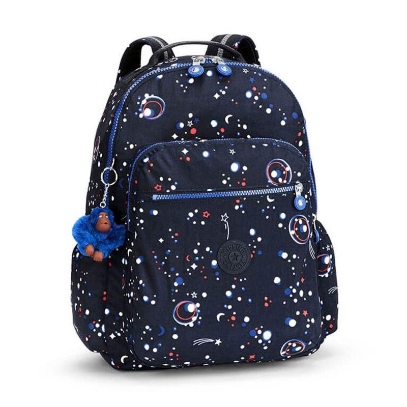 2b920c719 Compre KIPLING : Mochila Escolar Seoul up Azul Galaxy Party Kipling por  R$649,00 - Kipling