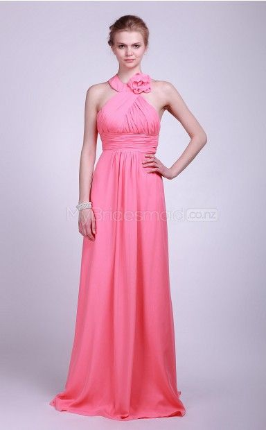 bridesmaid dresses watermelon chiffon