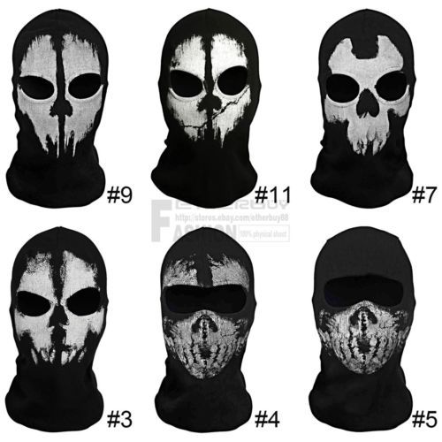 Call Of Duty 10 Cod Ghosts Logan Balaclava Ski Skull Hood Full