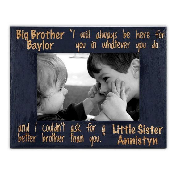 Personalized Brother and Sister Frame-Sibling Gift-Big by PWEGifts ...