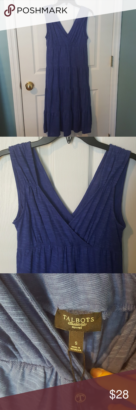 """Talbots Summer Dress This dress is a must have for your summer wardrobe! 51% cotton/49% linen. Very soft, great with a cute sandal or even flip flops! Size Small Petite. Measures 41"""" shoulder to hem. Talbots Dresses"""