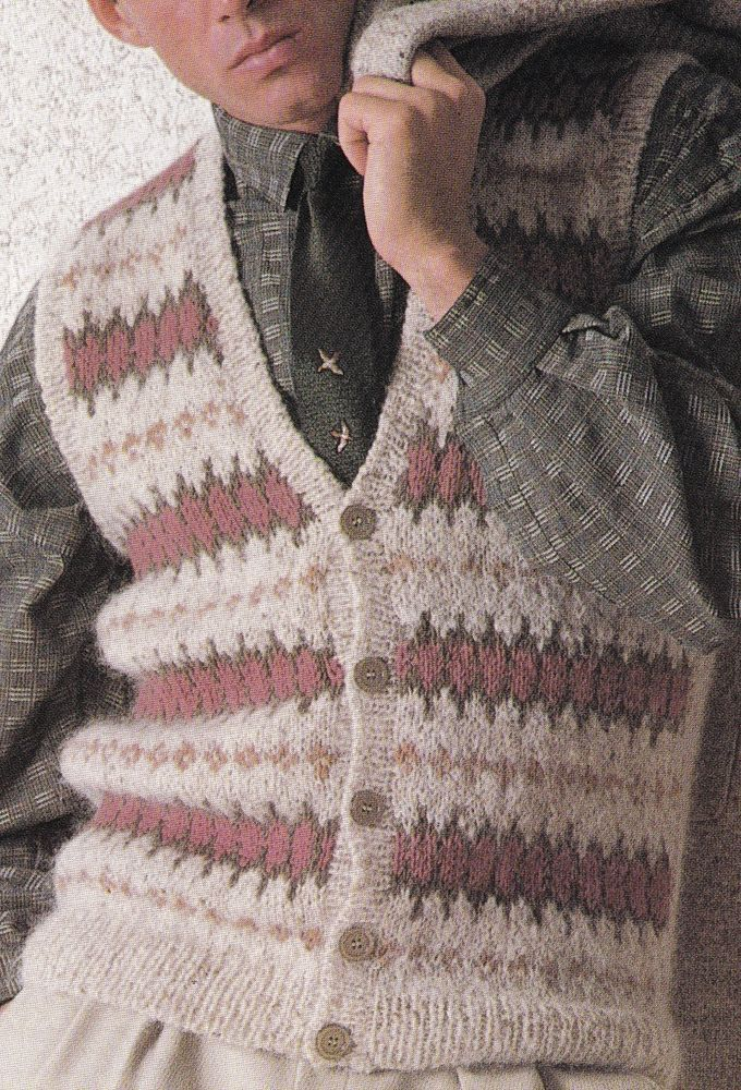 Vintage Knitting Pattern Instructions to Make a Mens Fair Isle ...