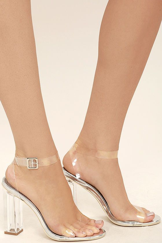 8a6dc6127d4 Clear to See Silver Lucite Heels | PUMP IT UP!!! in 2019 | Clear ...