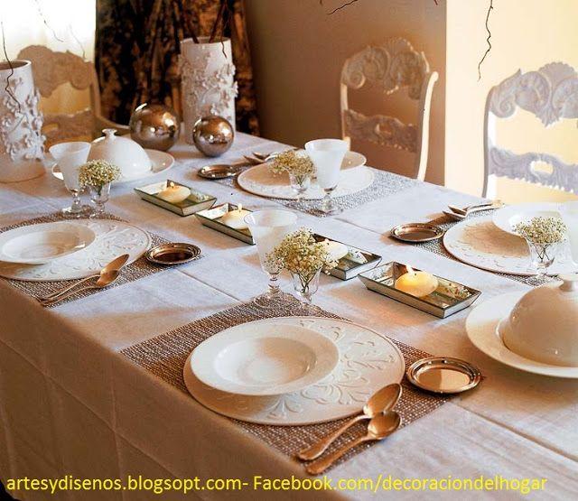 Como Decorar Mesas Para Navidad By Artesydisenosblogspotcom - Decorar-mesa-para-navidad
