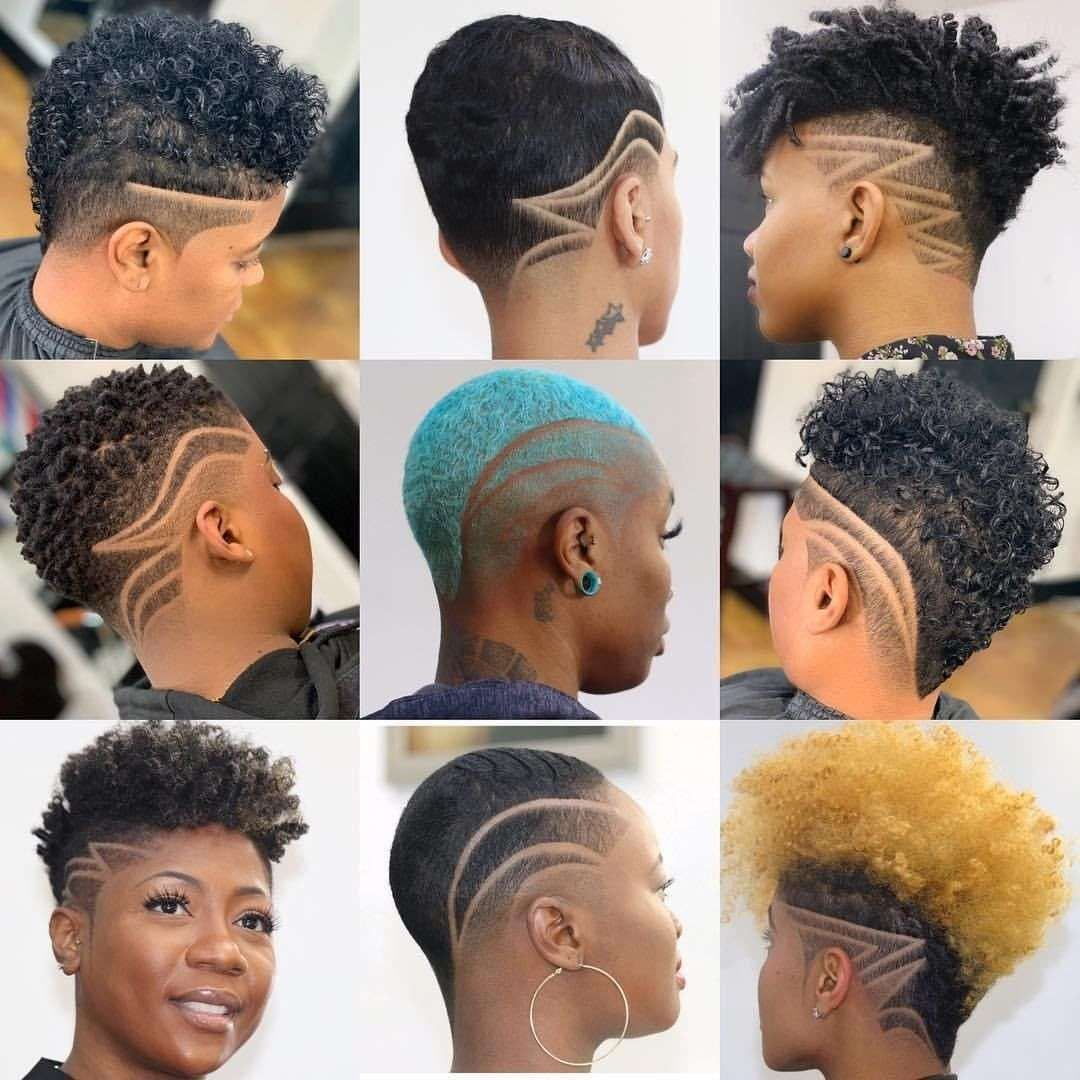 11+ Cute Short Haircuts For Black Women  Shaved hair designs