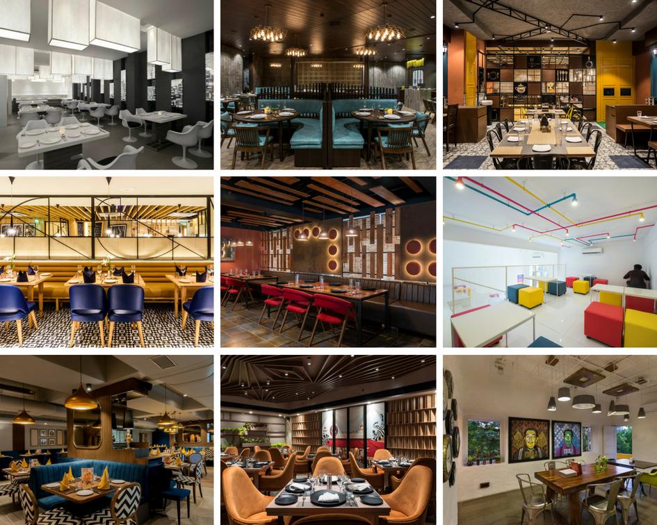 Top 10 Restaurant Interior Design In India The Architects Diary In 2020 Restaurant Interior Restaurant Interior Design Portico Design