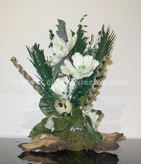 Flower Arrangement Using Driftwood